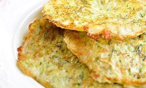 Рецепт постных оладий из кабачков