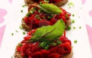 Рецепт вегетарианских канапе