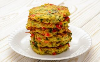 Рецепт овощных оладий