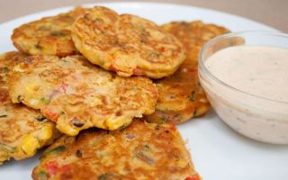 Рецепт постных овощных оладий