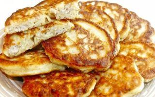Рецепт оладий с фаршем на кефире