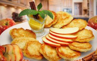 Рецепт оладий с яблоками