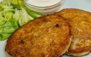 Рецепт картофельных оладий с мясом