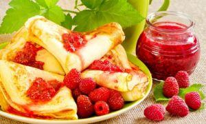 Рецепт ягодных блинов